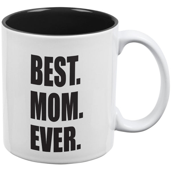 Mother's Day Best Mom Ever White-Black All Over Coffee Mug