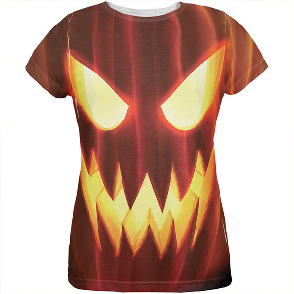 Halloween All Over JackOLantern Womens T-Shirt