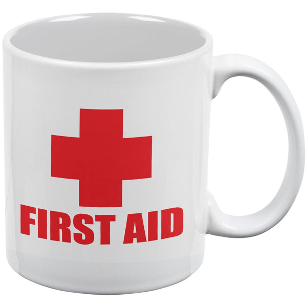 First Aid White All Over Coffee Mug