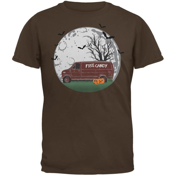 Halloween Free Candy Van Brown Adult T-Shirt