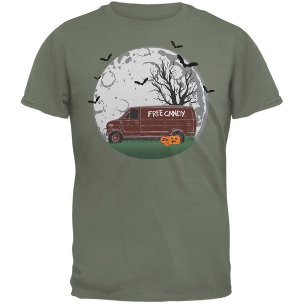 Halloween Free Candy Van Military Green Adult T-Shirt