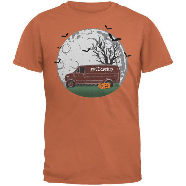 Halloween Free Candy Van Texas Orange Adult T-Shirt