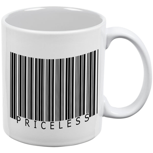 Priceless Funny Barcode White All Over Coffee Mug