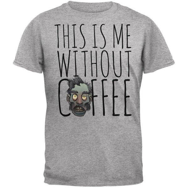 This Is Me Without Coffee Heather Grey Adult T-Shirt