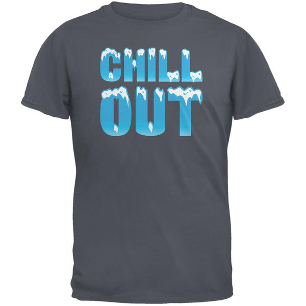 Chill Out Charcoal Grey Adult T-Shirt