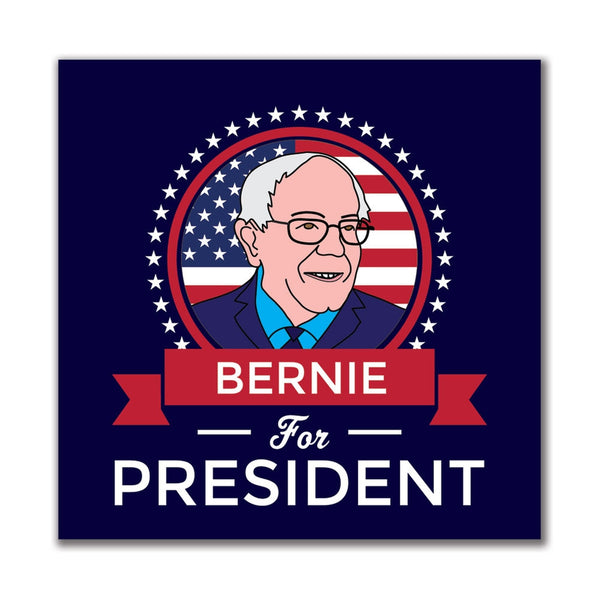 Election 2016 Bernie Sanders President Ribbon 4in. Square Sticker