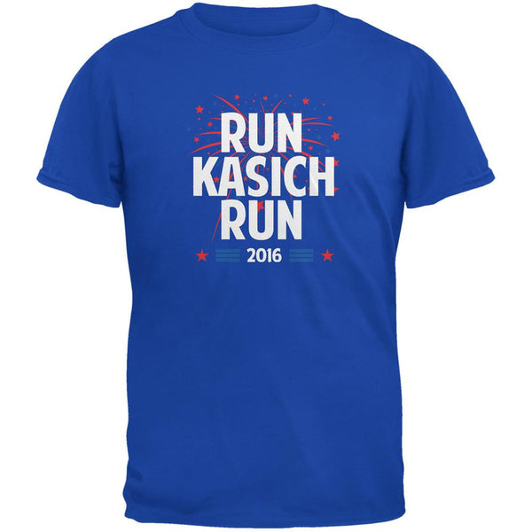 Election 2016 Run Kasich Run Royal Adult T-Shirt