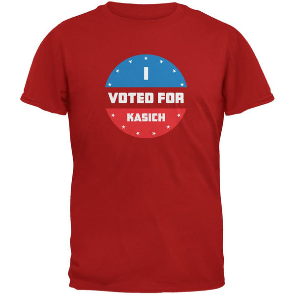 Election 2016 I Voted For Kasich Red Adult T-Shirt