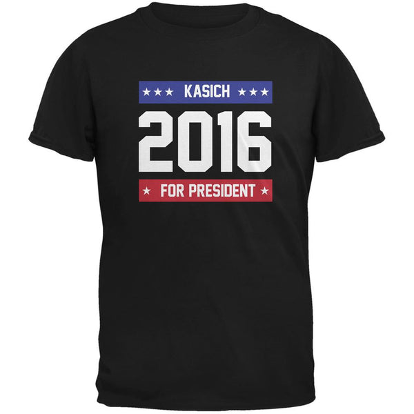 Election 2016 Kasich For President 2016 Black Adult T-Shirt