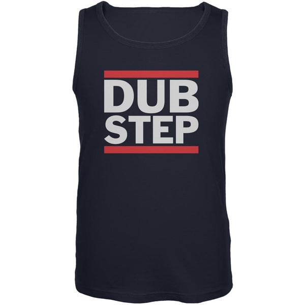 Dub Step Navy Adult Tank Top