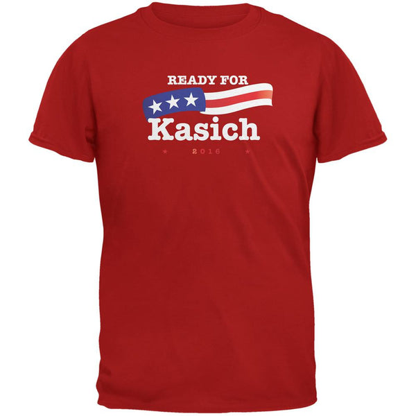 Election 2016 Ready for Kasich Red Adult T-Shirt