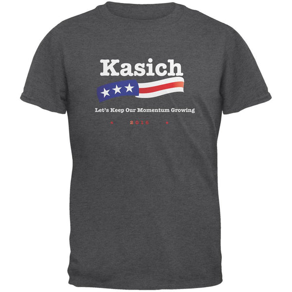 Election 2016 Kasich Momentum Growing Dark Heather Adult T-Shirt