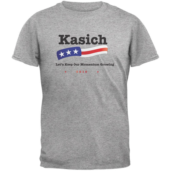 Election 2016 Kasich Momentum Growing Heather Grey Adult T-Shirt