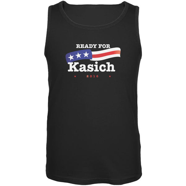 Election 2016 Ready for Kasich Black Adult Tank Top