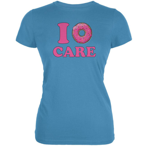 I Donut Care Aqua Juniors Soft T-Shirt