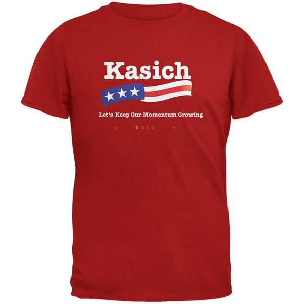 Election 2016 Kasich Momentum Growing Red Adult T-Shirt