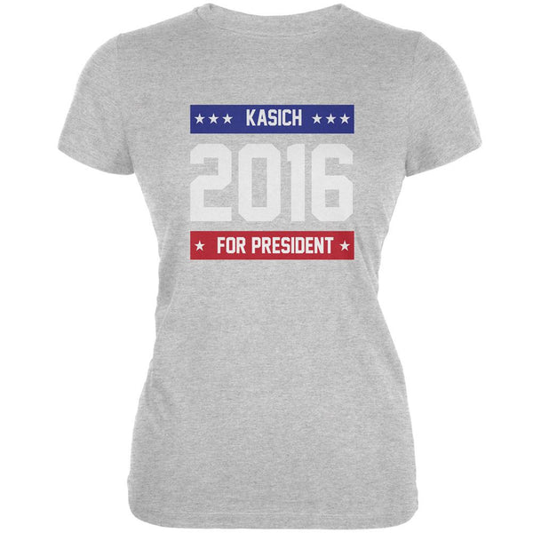 Election 2016 Kasich For President 2016 Heather Juniors Soft T-Shirt