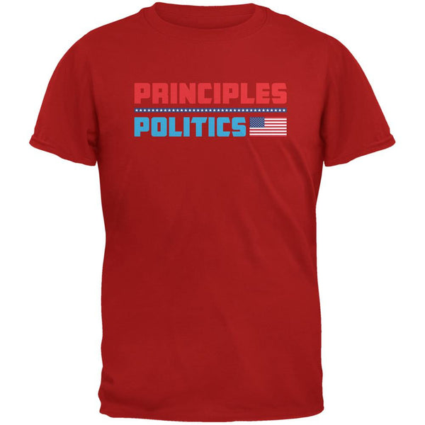 Election 2016 Principles Over Politics Red Adult T-Shirt