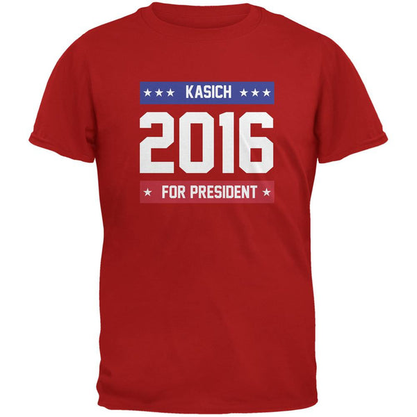 Election 2016 Kasich For President 2016 Red Adult T-Shirt