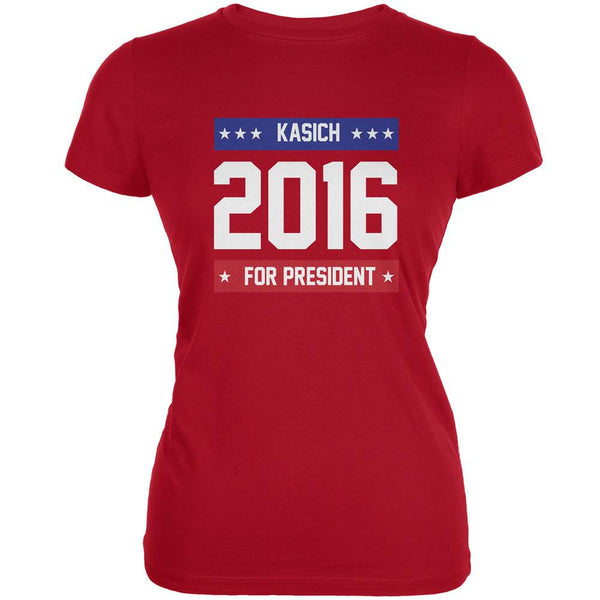 Election 2016 Kasich For President 2016 Red Juniors Soft T-Shirt