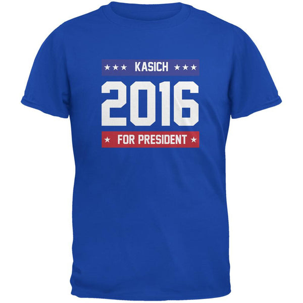 Election 2016 Kasich For President 2016 Royal Adult T-Shirt