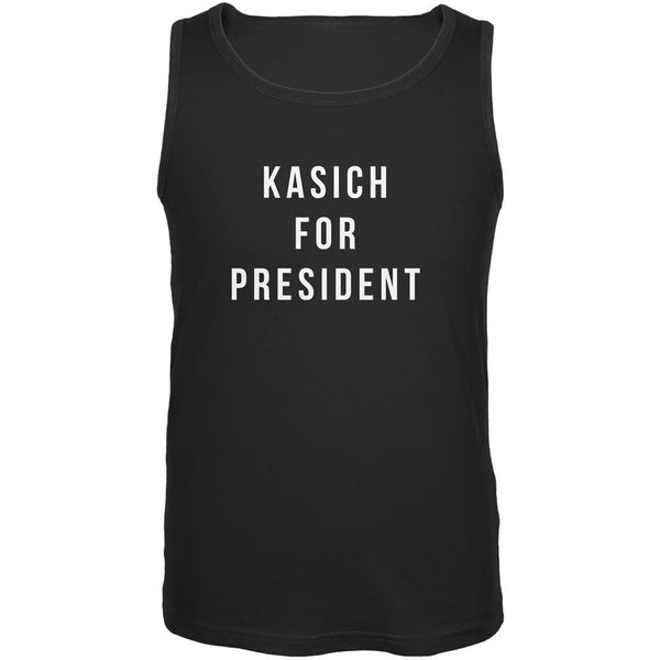 Election 2016 Kasich For President Black Adult Tank Top