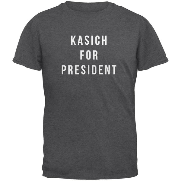 Election 2016 Kasich For President Dark Heather Adult T-Shirt