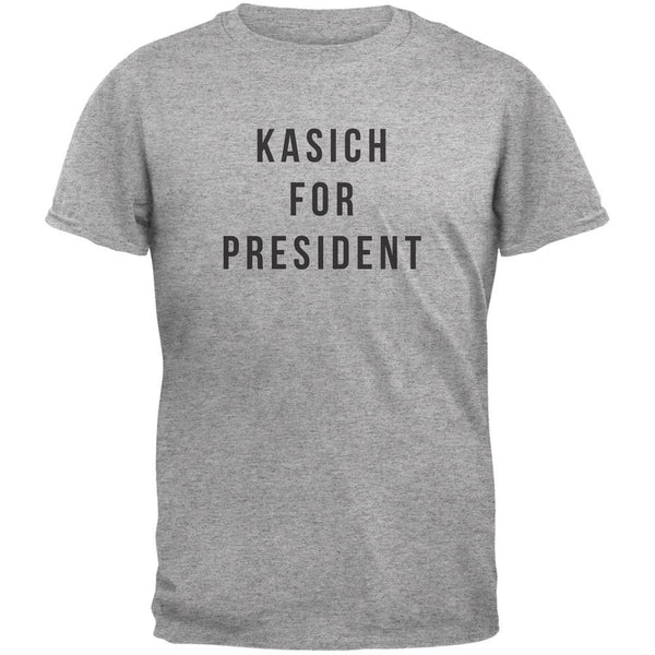 Election 2016 Kasich For President Heather Grey Adult T-Shirt