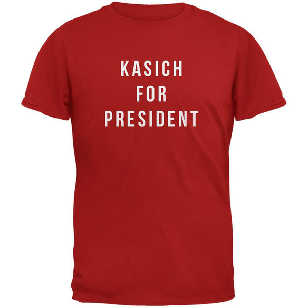 Election 2016 Kasich For President Red Adult T-Shirt