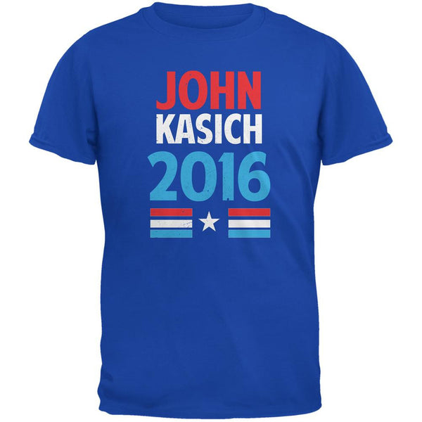Election 2016 Kasich Vintage Text Royal Adult T-Shirt