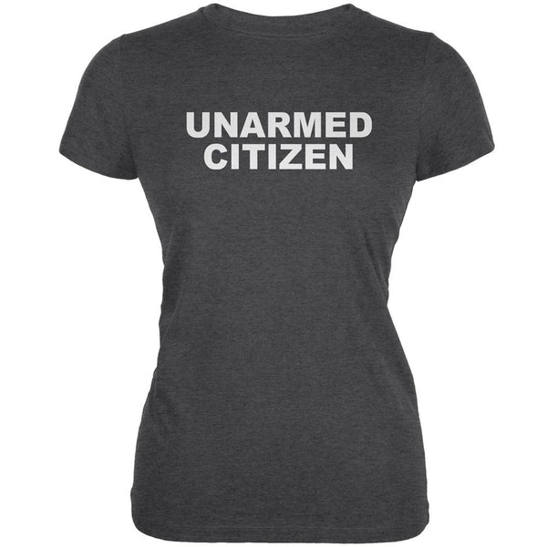 Ferguson Unarmed Citizen Dark Heather Juniors Soft T-Shirt