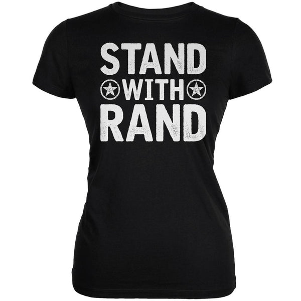 Election 2016 Stand With Rand Distressed Black Juniors Soft T-Shirt