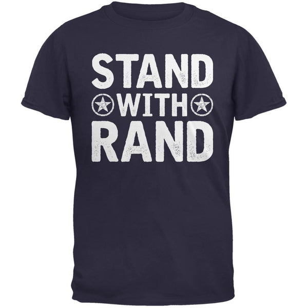 Election 2016 Stand With Rand Distressed Navy Adult T-Shirt