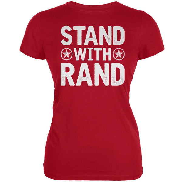 Election 2016 Stand With Rand Distressed Red Juniors Soft T-Shirt
