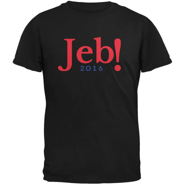 Election 2016 Jeb Bush Jeb! 2016 Black Adult T-Shirt