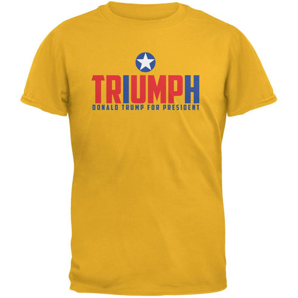 Election 2016 Triumph Trump for President Gold Adult T-Shirt