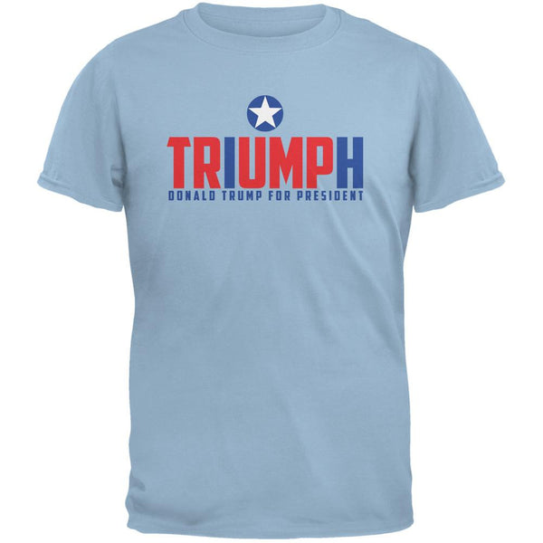 Election 2016 Triumph Trump for President Light Blue Adult T-Shirt