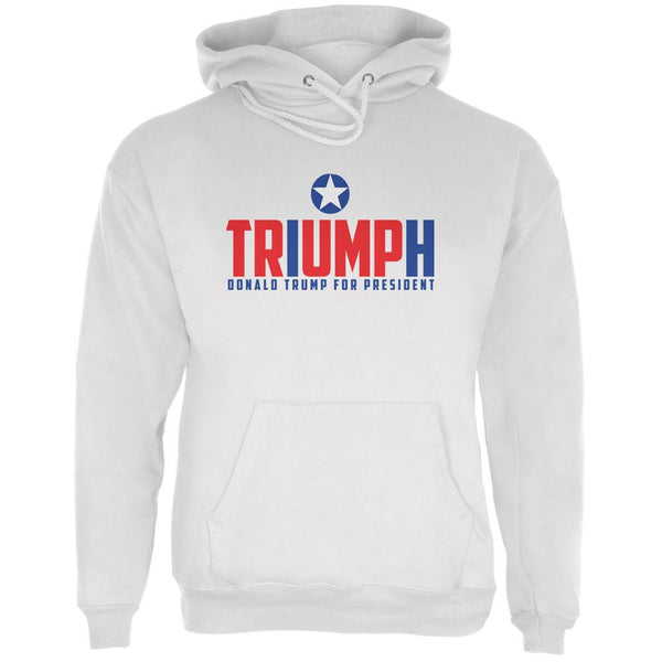 Election 2016 Triumph Trump for President White Adult Hoodie
