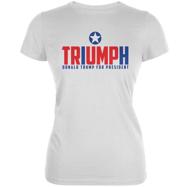 Election 2016 Triumph Trump for President White Juniors Soft T-Shirt