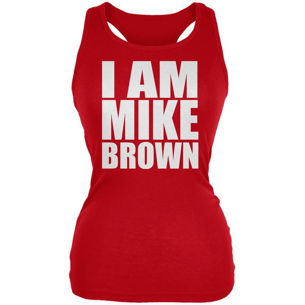 Ferguson I Am Mike Brown Red Juniors Soft Tank Top