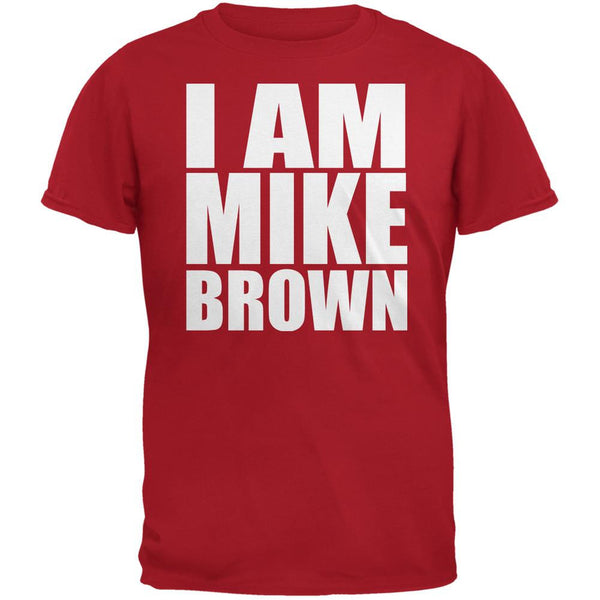 Ferguson I Am Mike Brown Red Adult T-Shirt