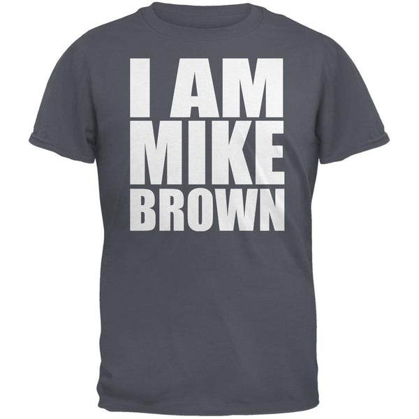 Ferguson I Am Mike Brown Charcoal Grey Adult T-Shirt
