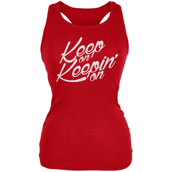 Keep On Keepin On Red Juniors Soft Tank Top