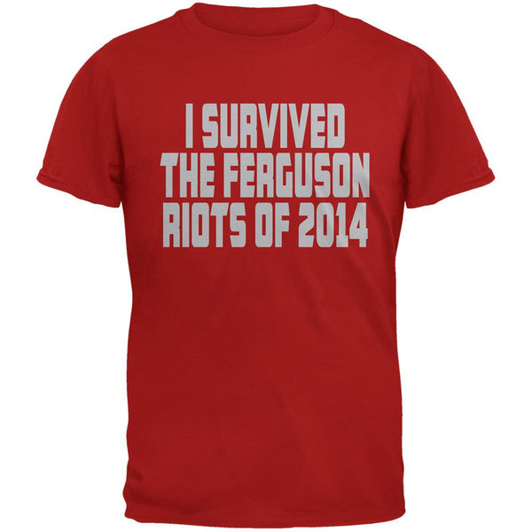 Ferguson I Survived The Riot 2014 Red Adult T-Shirt