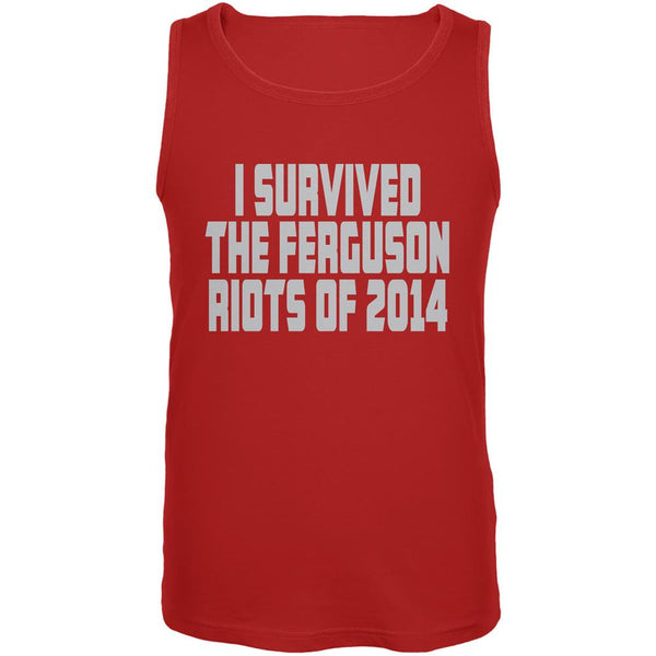 Ferguson I Survived The Riot 2014 Red Adult Tank Top