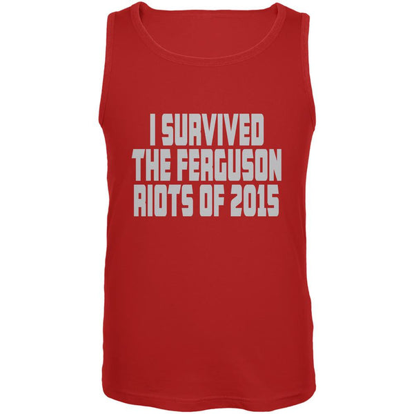 Ferguson I Survived The Riot 2015 Red Adult Tank Top
