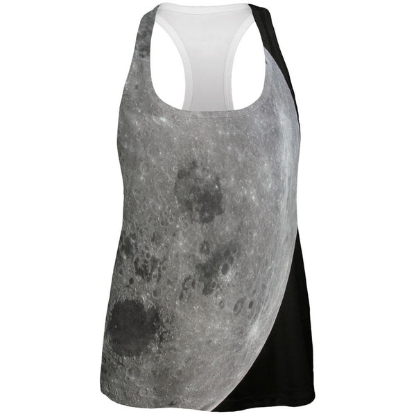 Moon All Over Womens Racerback Tank Top