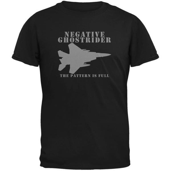 Negative Ghostrider Pattern Is Full Black Youth T-Shirt