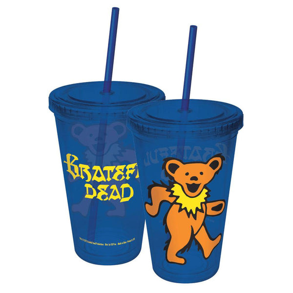 Grateful Dead - Dancing Bear Acrylic Tumbler With Straw