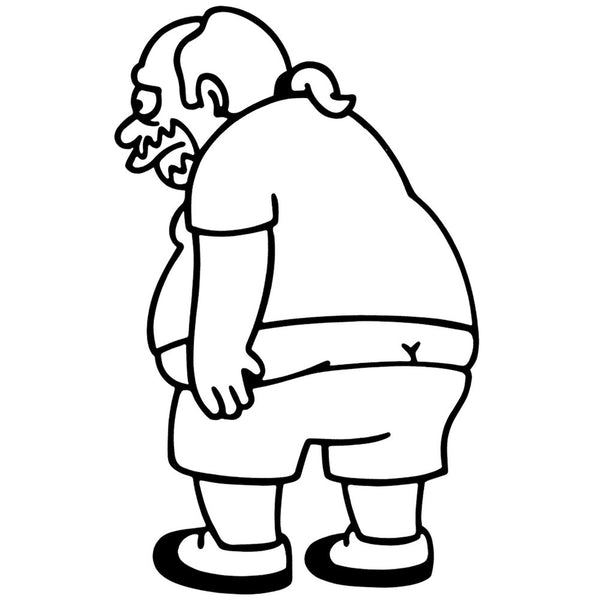 Simpsons - Comic Book Guy - Cutout Sticker